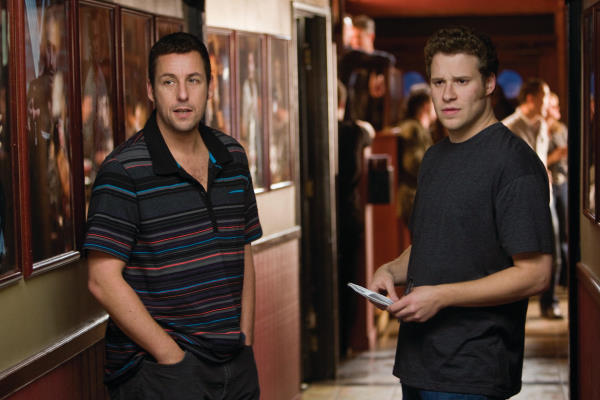 George (Adam Sandler) and Ira (Seth Rogen) in writer/director Judd Apatow's third film behind the camera, Funny People.