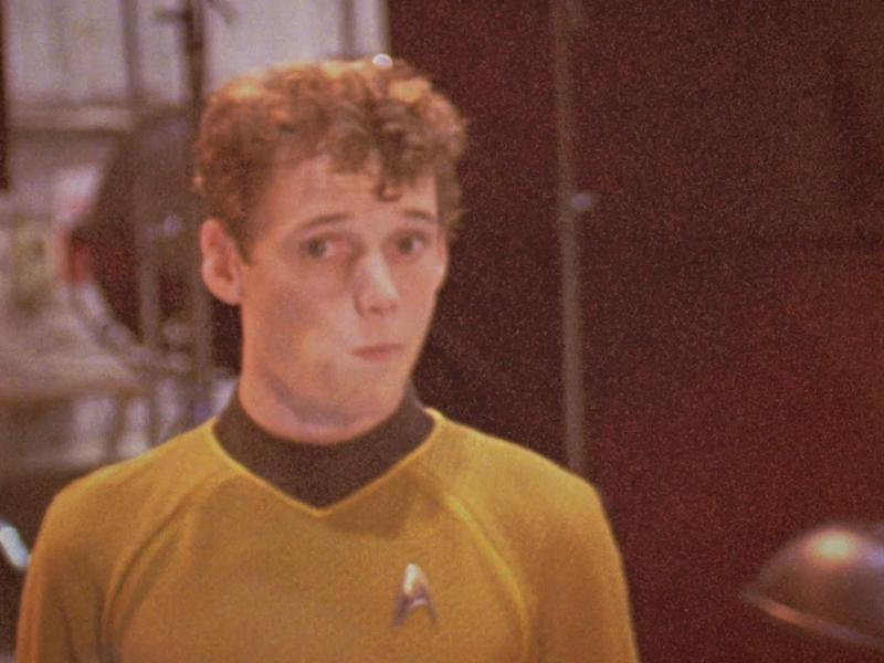 A still of Anton Yelchin on the set of Star Trek in Love, Antosha