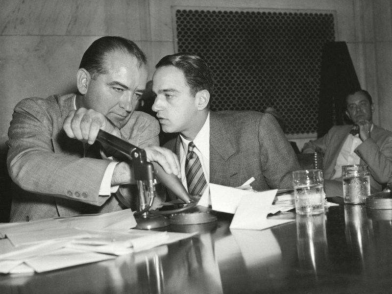 Joseph McCarthy and Roy Cohn in Where's My Roy Cohn?