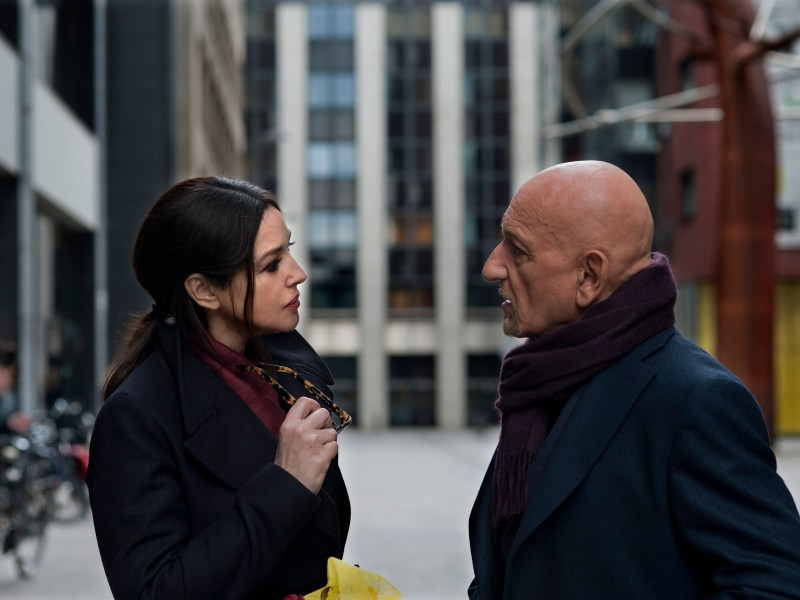 Angela (Monica Bellucci) and Adereth (Ben Kingsley) in Spider in the Web.