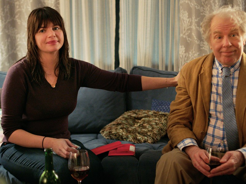Casey Wilson and Michael McKean in Daddio.