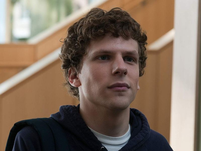 Jesse Eisenberg in The Social Network.
