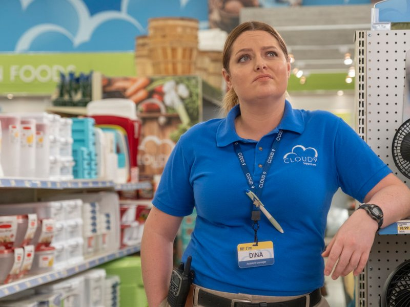 Lauren Ash as Dina in Superstore.