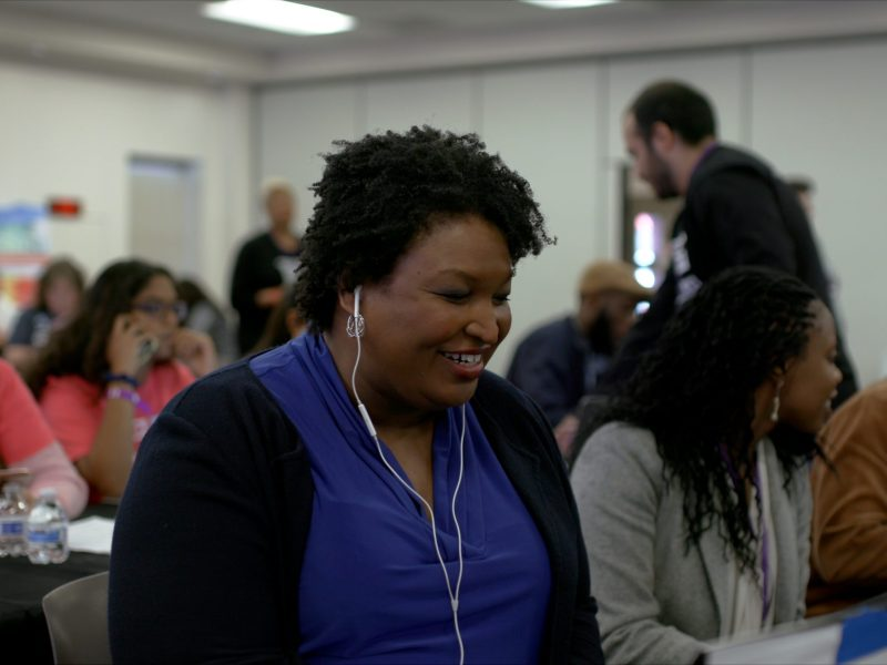 Stacey Abrams in All In: The Fight for Democracy.