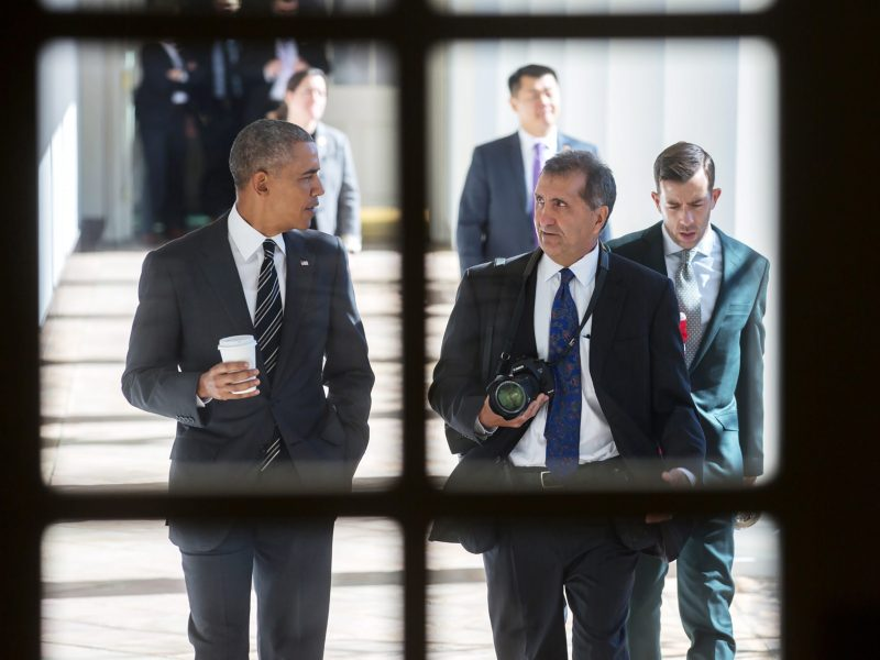 President Barack Obama and Pete Souza in a still from The Way I See It