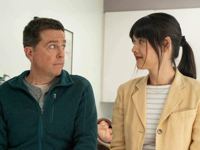Ed Helms and Patti Harrison in Together Together by Nikole Beckwith