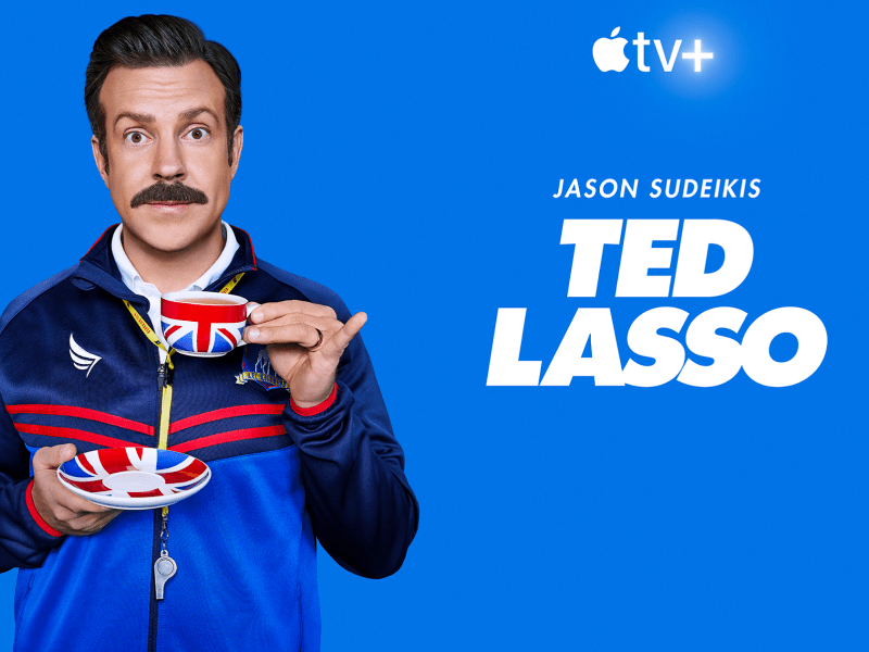 Jason Sudeikis in Ted Lasso on Apple TV+.
