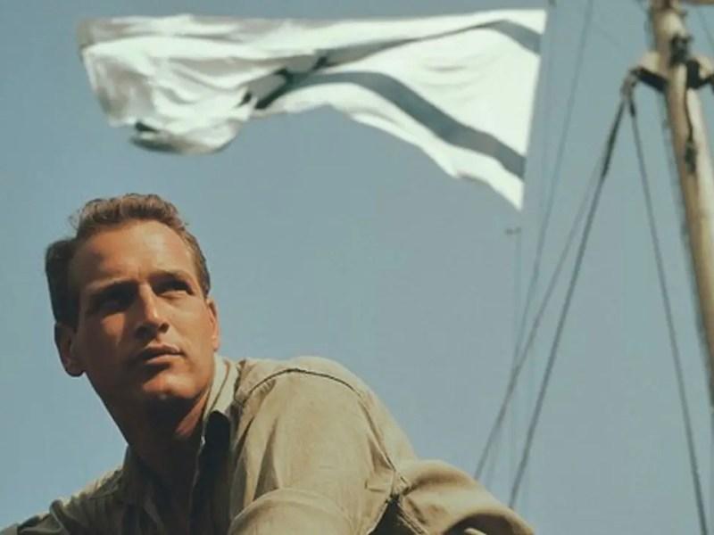 Paul Newman in Exodus.