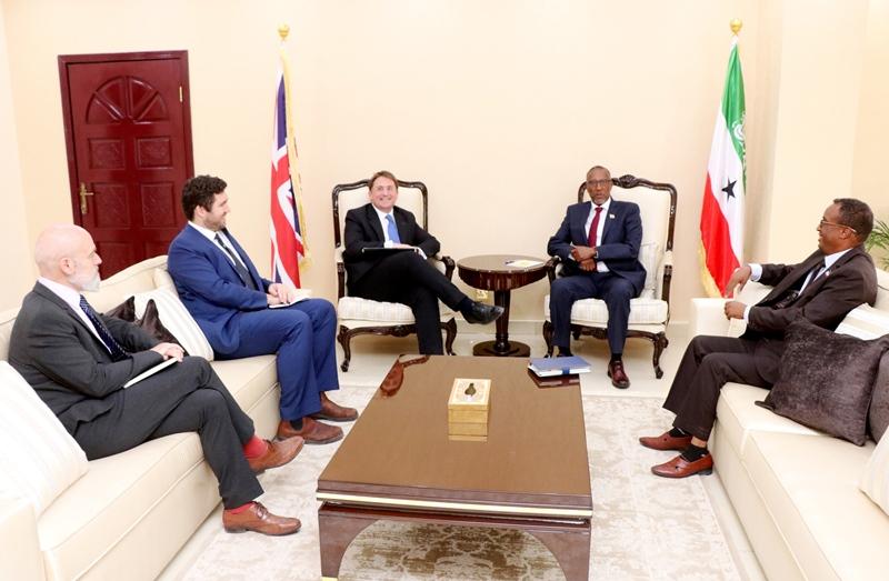 President Muse meets with UK Ambassador Ben Fender