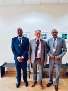 Somaliland Managing Director of the Civil Aviation and Airports Authority, Mr. Abdi Mohamed Rodol, Amb Bashe Awil and Swedish Peace and Reconciliation advisor, Mr. Johan Svensson we were hosted at the Sweden Embassy in Nairobi.