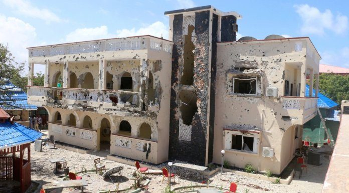 The Asasey Hotel in Somalia after the attack.CreditCreditAssociated Press