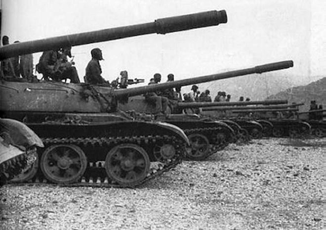 Somali tanks Entering Ethiopia at the start of the Ethiopian-Somali War, 1977-1978