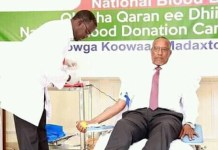 President calls for the need of donating blood