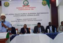 Finance minister Dr Saad Ali Shire at the launch of Somaliland Tax Litigation and Appeal Committee