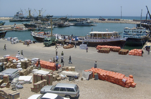 A General View Shows Activity At Somali's Northern Port Town Of Bosasso