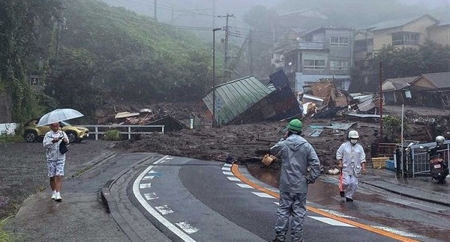 Two Bodies Were Found After A Huge Landslide At A Resort Town In Central Japan Swept Away Homes On Saturday