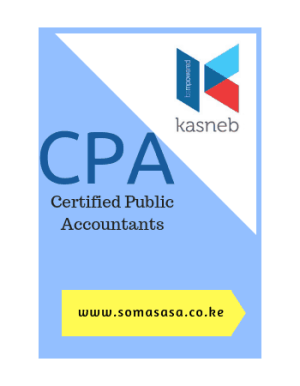 Certified Public Accountants -CPA All Kasneb CPA Notes CPA Past papers Kasneb CPA Revision Kenya