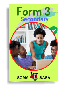 Somasasa Form 3 one in Kenya