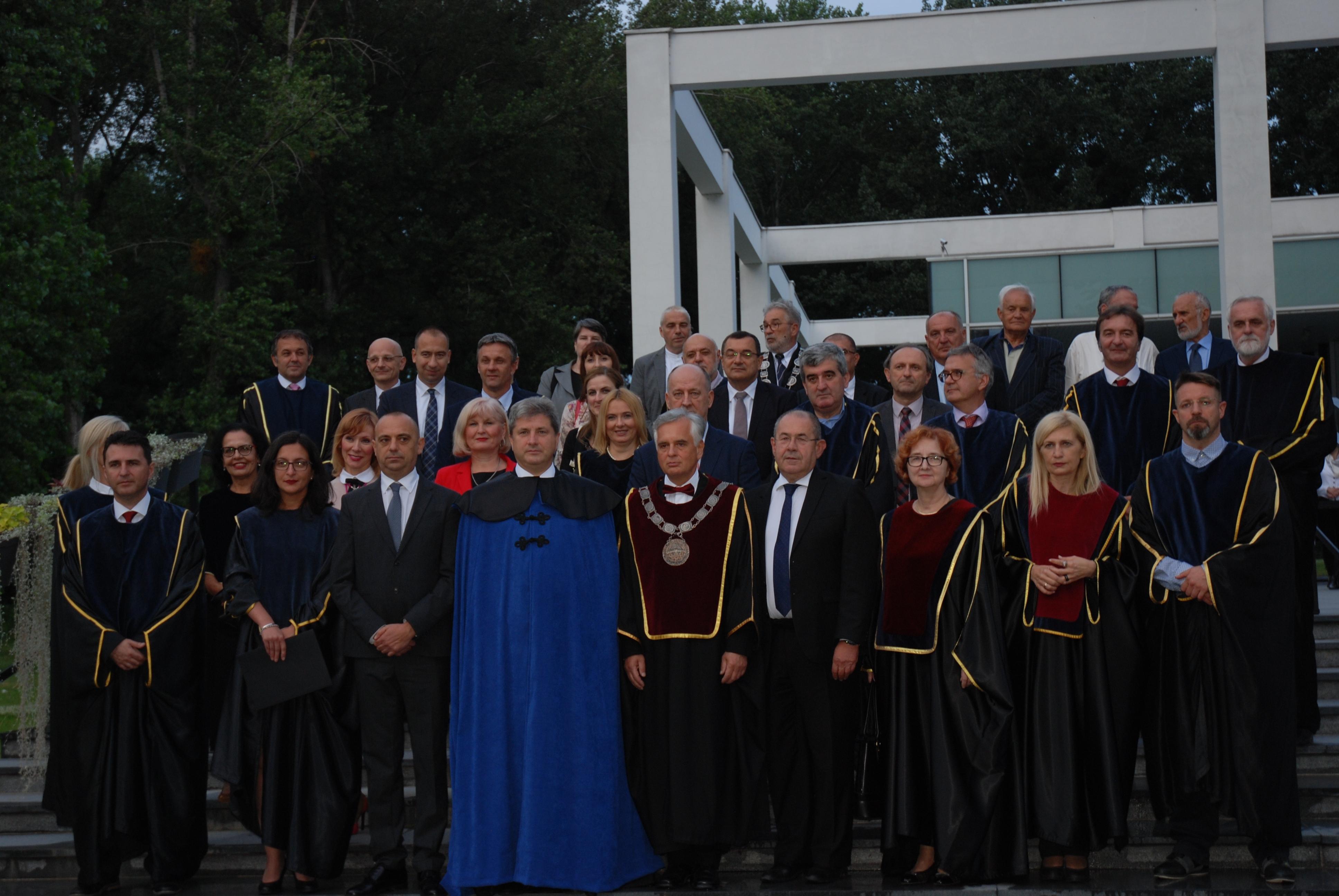 Počasni doktor nauka UNS, rektor, Dekani i predstavnici društveno političke zajednice