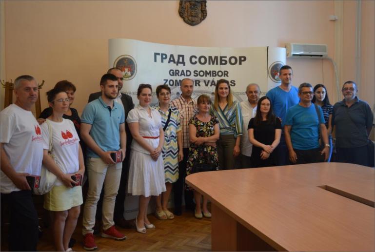 Пријем  добровољних давалаца крви са територије града Сомбора