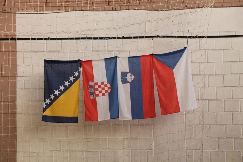 Заставе земаља гостију, Босне и Херцеговине, Хрватске, Словеније и Чешке