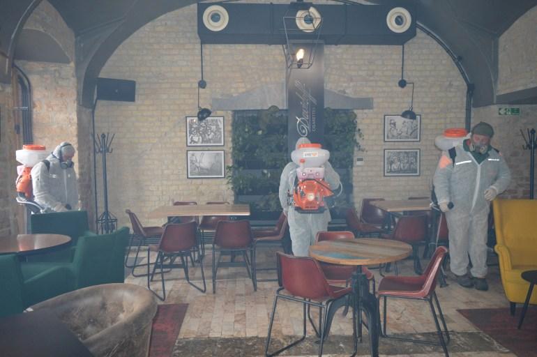 Дезинфекција угоститељских објеката на територији града Сомбора