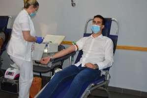 Градоначелник Антонио Ратковић у акцији добровољног давања крви