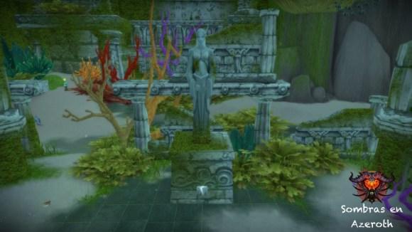 Estatua Azshara en los Jardines de Quel'Dormir