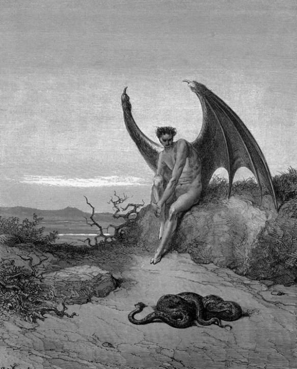 <b>Satan</b> et le Serpent – Gustave Doré