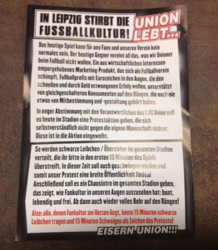 Union Berlin leaflet