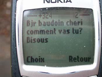 un sms qui vient d'ostende