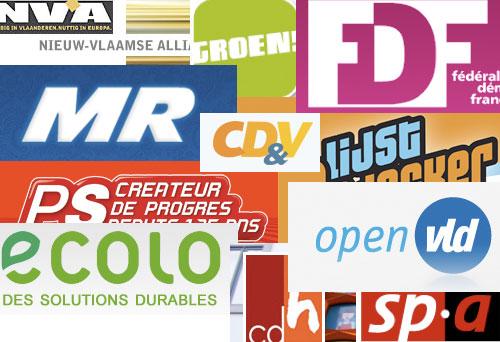 logo des partis politiques belges