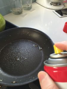 Spray with oil (or use butter)
