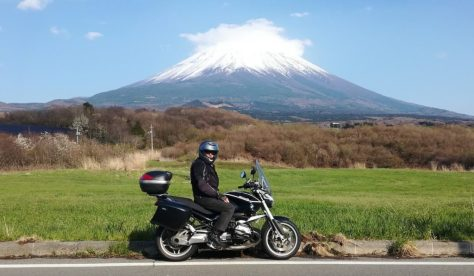 Mt Fuji and One Very Happy Rider