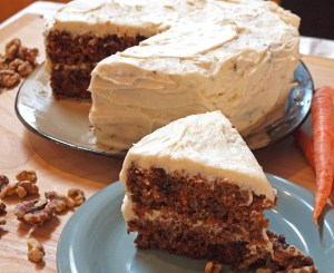 Homemade Carrot Cake with Cream Cheese Frosting