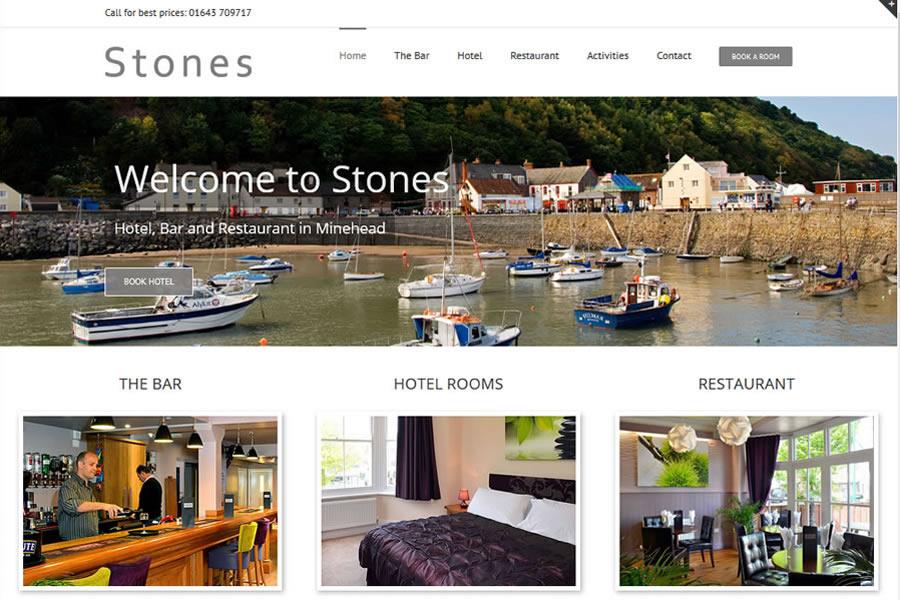 Hotel website designers in Minehead