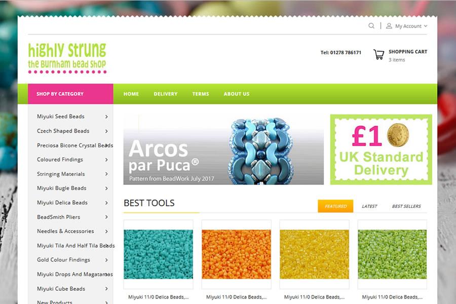 Highly Strung Beads - eCommerce Website Design
