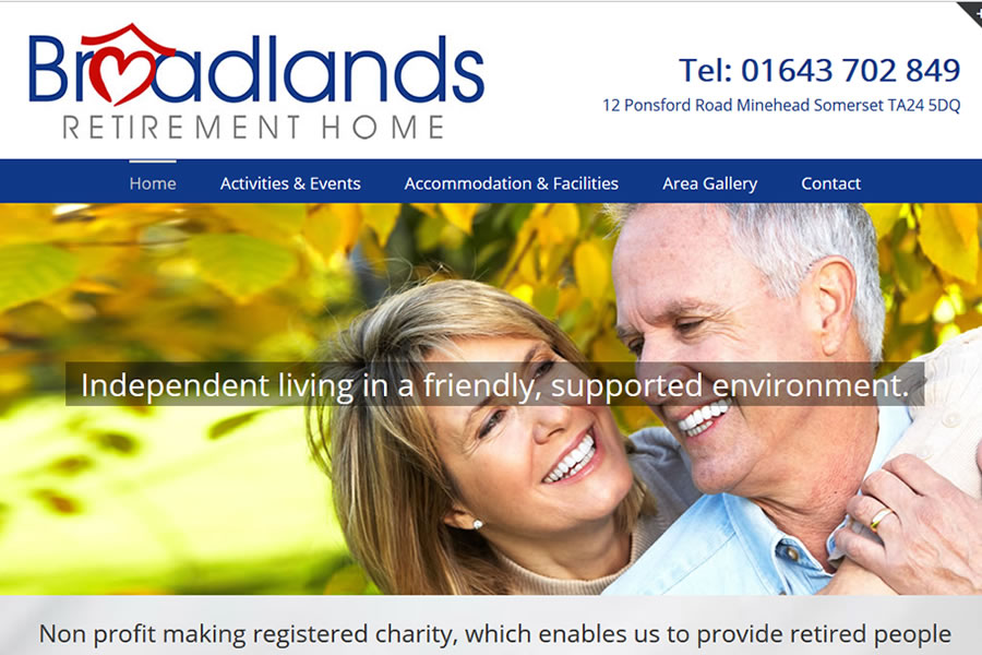 Retirement Home Website Designers in Somerset