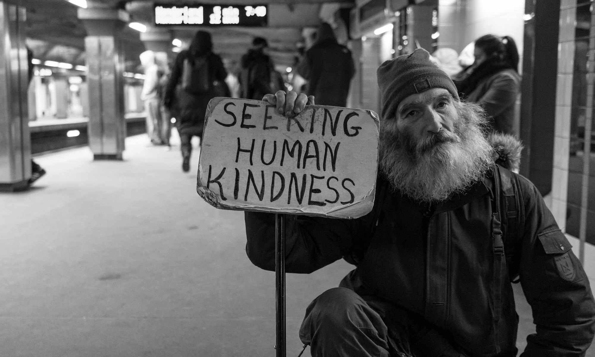 Man seeking kindness
