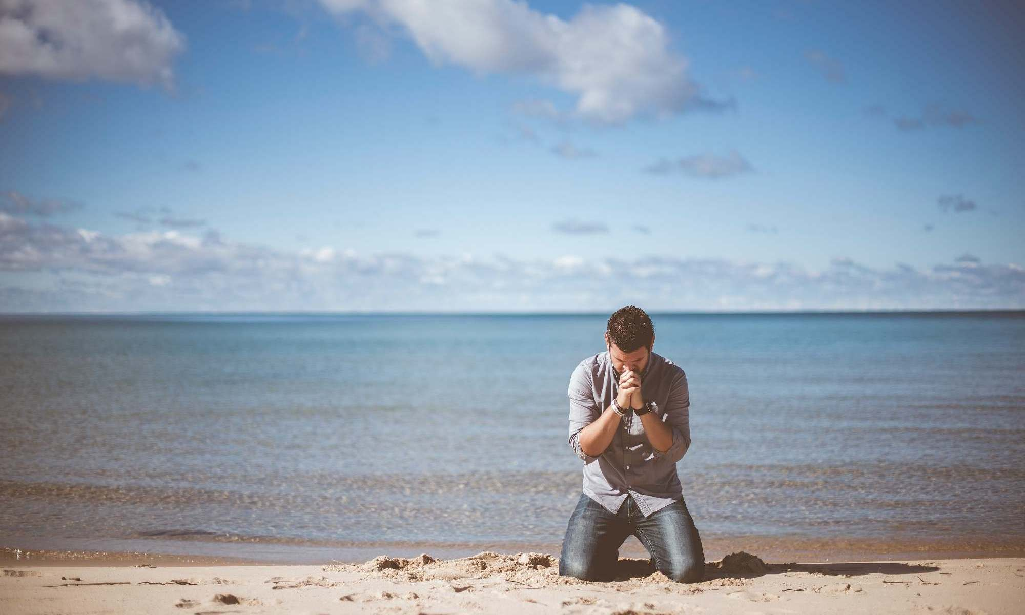 man praying