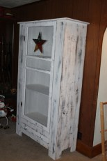 Primitive Screen Door Cupboard