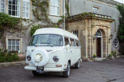 White wedding campervan Somerset