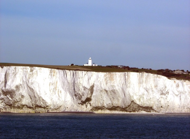 The White Cliffs of Dover are iconic for its pristine white limestone that spans the English coastline. Photo credit: Rémi Jouan on Wikimedia Commons