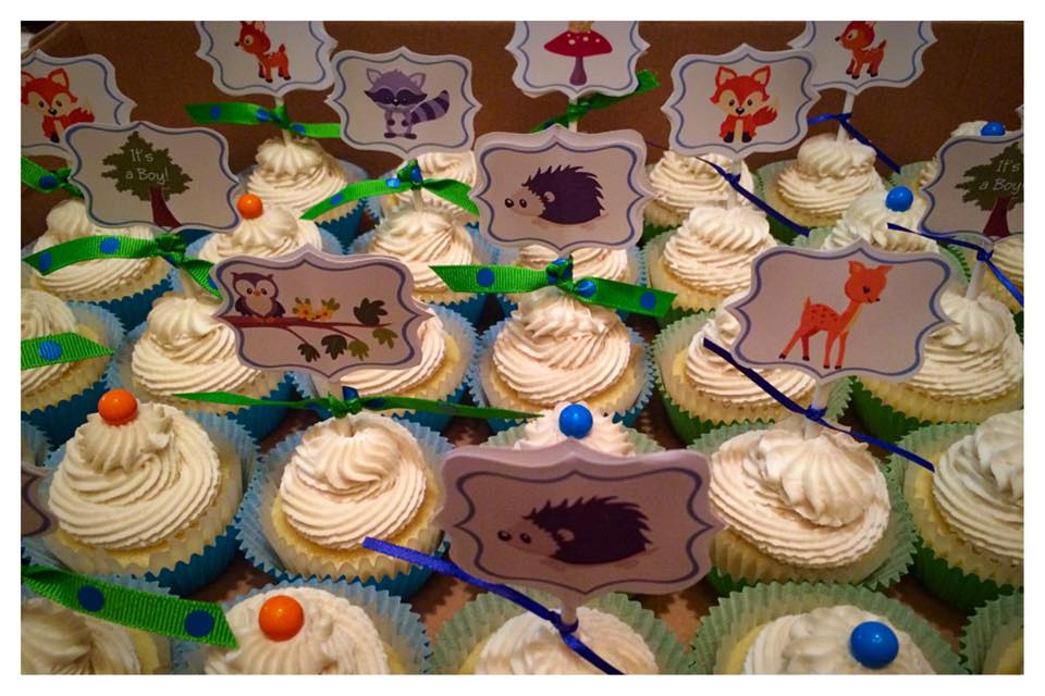 Cute Woodland Animal Baby Shower Cupcakes