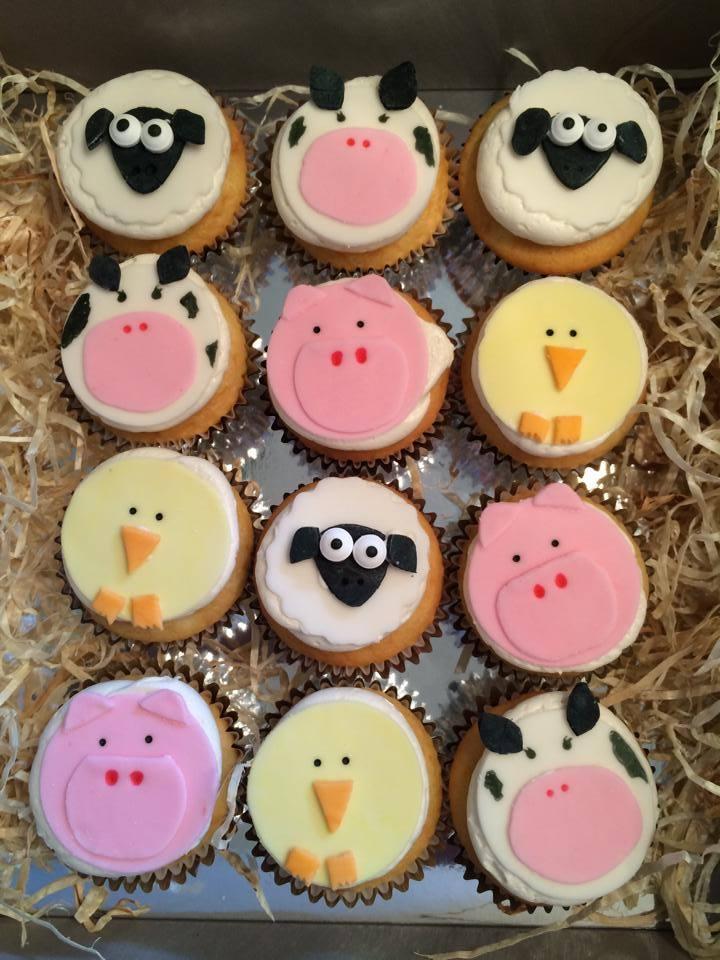 Animal Themed Birthday Cupcakes