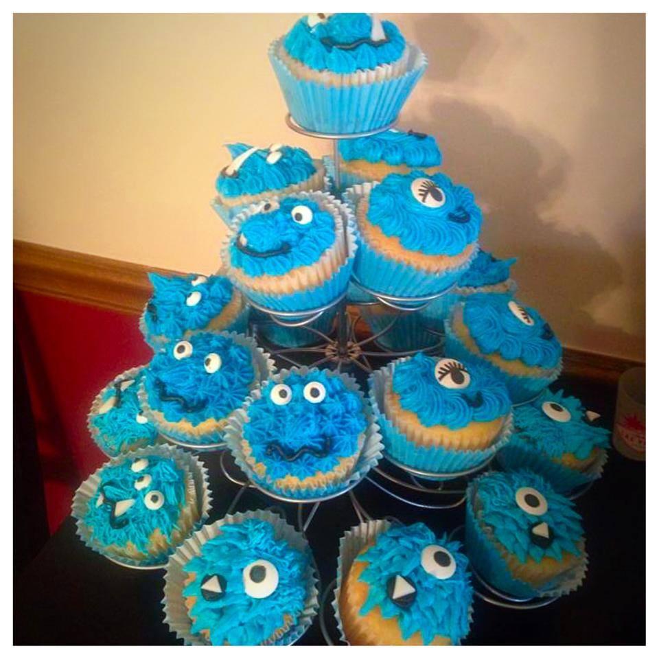 Monster Themed Birthday Cupcakes