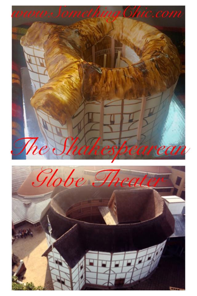 Edible Cake and Fondant Replica of the Globe Theater