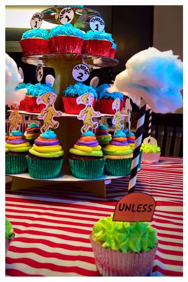Dr. Suess Oh The Places You'll Go Themed Birthday Cupcakes