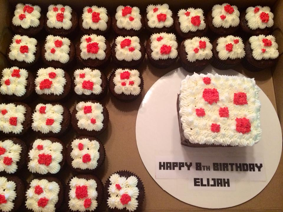 Minecraft Cake Themed Smash Cake and Cupcakes