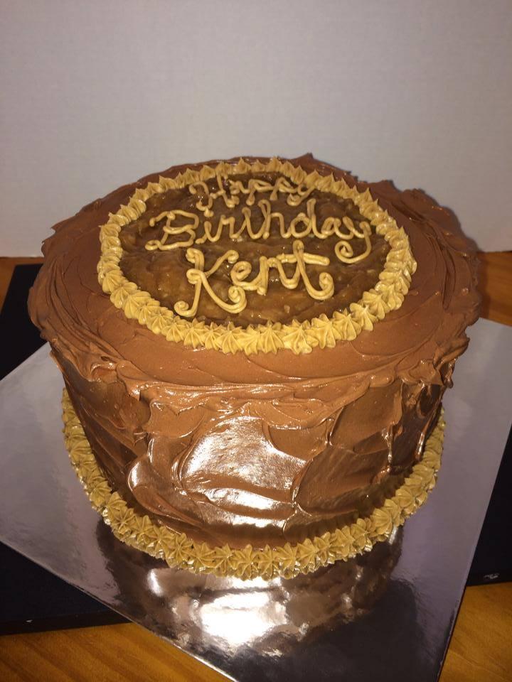 German Chocolate Cake Birthday Cake